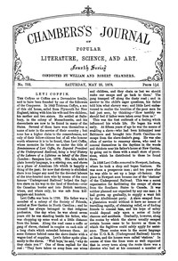 Cover of Chambers's Journal of Popular Literature, Science, and Art, No. 752, May 25, 1878