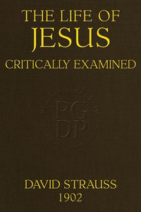 Cover of The Life of Jesus Critically Examined(4th ed.)