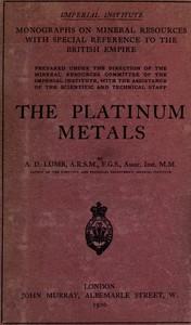 Cover of The platinum metals