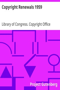 Cover of Copyright Renewals 1959