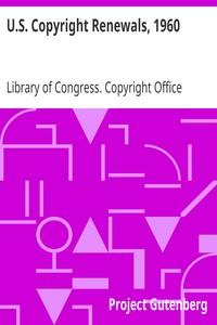 Cover of U.S. Copyright Renewals, 1960,Copyright Renewals 1960