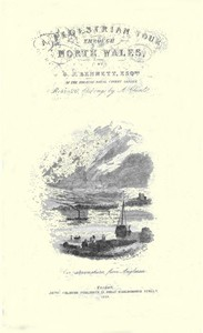 Cover of The Pedestrian's Guide through North Wales A tour performed in 1837