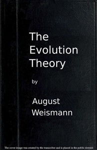 Cover of The Evolution Theory, Vol. 1 of 2