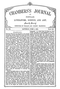 Cover of Chambers's Journal of Popular Literature, Science, and Art, No. 753, June 1, 1878