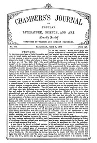 Chambers's Journal of Popular Literature, Science, and Art, No. 754, June 8, 1878
