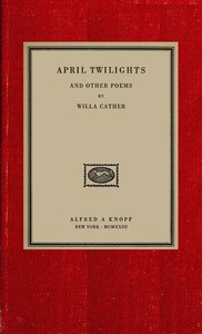 Cover of April twilights, and other poems