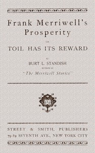 Cover of Frank Merriwell's Prosperity; or, Toil Has Its Reward