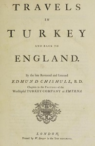 Cover of Travels in Turkey and back to England