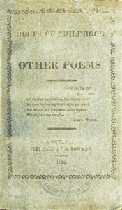 Cover of Hours of childhood, and other poems