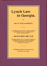 Cover of Lynch Law in Georgia