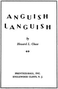 Cover of Anguish Languish