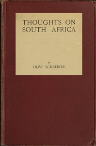 Cover of Thoughts on South Africa