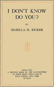 Cover of I don't know, do you?