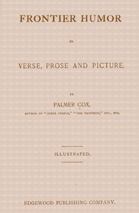 Cover of Frontier Humor in Verse, Prose and Picture