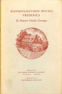 Hawkins-Davison Houses, Frederica, St. Simons Island, Georgia
