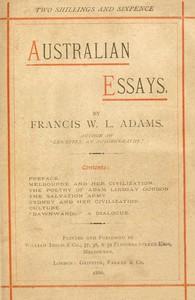 Cover of Australian Essays