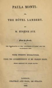 Paula Monti; or, The Hôtel Lambert