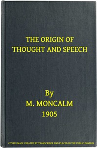 Cover of The Origin of Thought and Speech