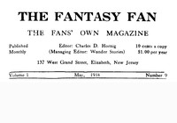 Cover of The Fantasy Fan, Volume 1, Number 9, May 1934The Fan's Own Magazine