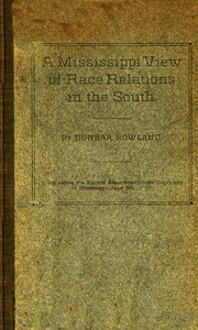 A Mississippi View of Race Relations in the South