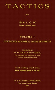 Cover of Tactics, Volume 1 (of 2). Introduction and Formal Tactics of Infantry