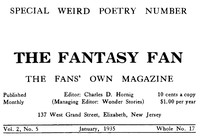 Cover of The Fantasy Fan, Volume 2, Number 5, January 1935The Fan's Own Magazine