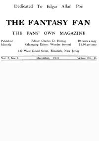 Cover of The Fantasy Fan, Volume 2, Number 4, December 1934