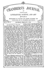 Chambers's Journal of Popular Literature, Science, and Art, Fifth Series, No. 5, Vol. I, February 2, 1884