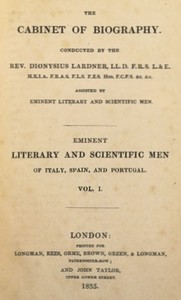 Cover of Eminent literary and scientific men of Italy, Spain, and Portugal. Vol. 1 (of 3)
