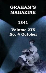 Cover of Graham's Magazine, Vol. XIX, No. 4, October 1841