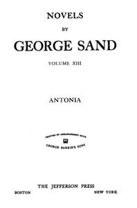 Cover of Antonia