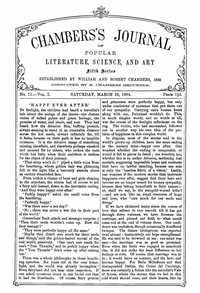 Cover of Chambers's Journal of Popular Literature, Science, and Art, Fifth Series, No. 11, Vol. I, March 15, 1884