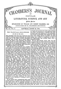Chambers's Journal of Popular Literature, Science, and Art, Fifth Series, No. 12, Vol. I, March 22, 1884