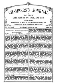 Chambers's Journal of Popular Literature, Science, and Art, Fifth Series, No. 13, Vol. I, March 29, 1884