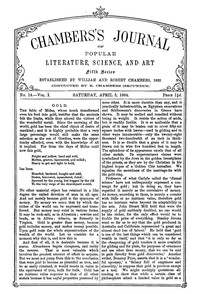 Chambers's Journal of Popular Literature, Science, and Art, Fifth Series, No. 14, Vol. I, April 5, 1884