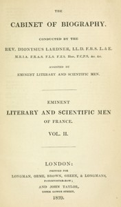 Cover of Lives of the most eminent literary and scientific men of France, Vol. 2 (of 2)