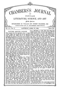 Chambers's Journal of Popular Literature, Science, and Art, Fifth Series, No. 15, Vol. I, April 12, 1884