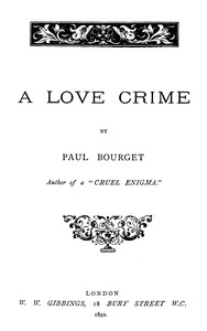 Cover of A Love Crime