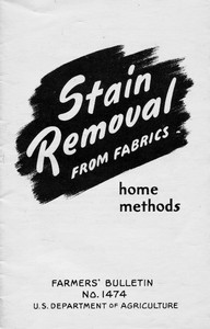 Cover of Stain Removal from Fabrics: Home Methods