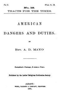 Cover of American Dangers and Duties