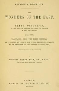 Cover of Mirabilia descripta