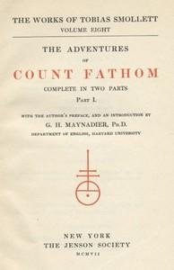 Cover of The Adventures of Ferdinand Count Fathom — Volume 01