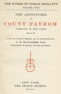 Cover of The Adventures of Ferdinand Count Fathom — Volume 02