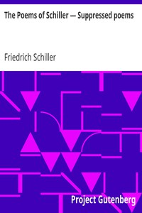 Cover of The Poems of Schiller — Suppressed poems