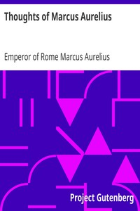 Cover of Thoughts of Marcus Aurelius
