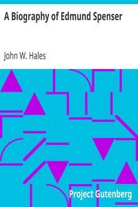 Cover of A Biography of Edmund Spenser