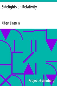 Cover of Sidelights on Relativity