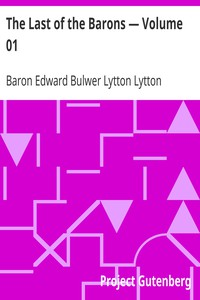 Cover of The Last of the Barons — Volume 01