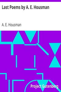 Cover of Last Poems by A. E. Housman
