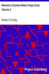 Cover of Memoirs of James Robert Hope-Scott, Volume 2